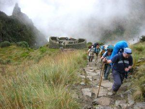Wandelaars op een van de vele trekkings in Peru