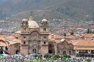 De kathedraal van Cusco op de plaza de armas