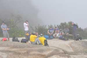 Mist tijdens de Inca Trail
