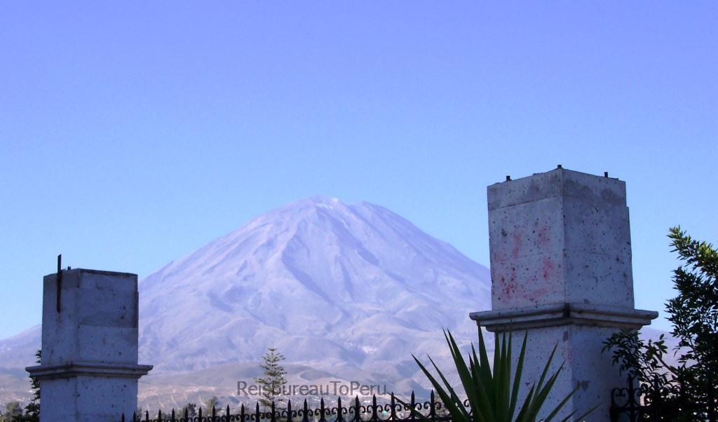 Arequipa, uitzicht op de vulkaan Misti