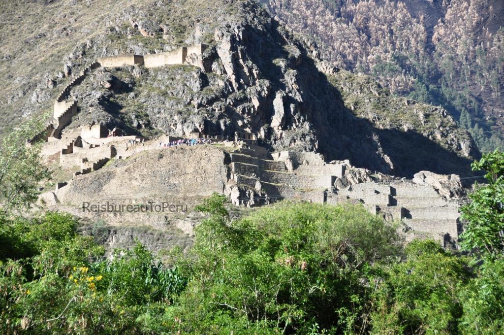 Het Inca fort bij Ollantaytambo