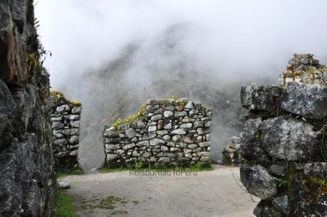 Ruine in de mist, Inca TRail