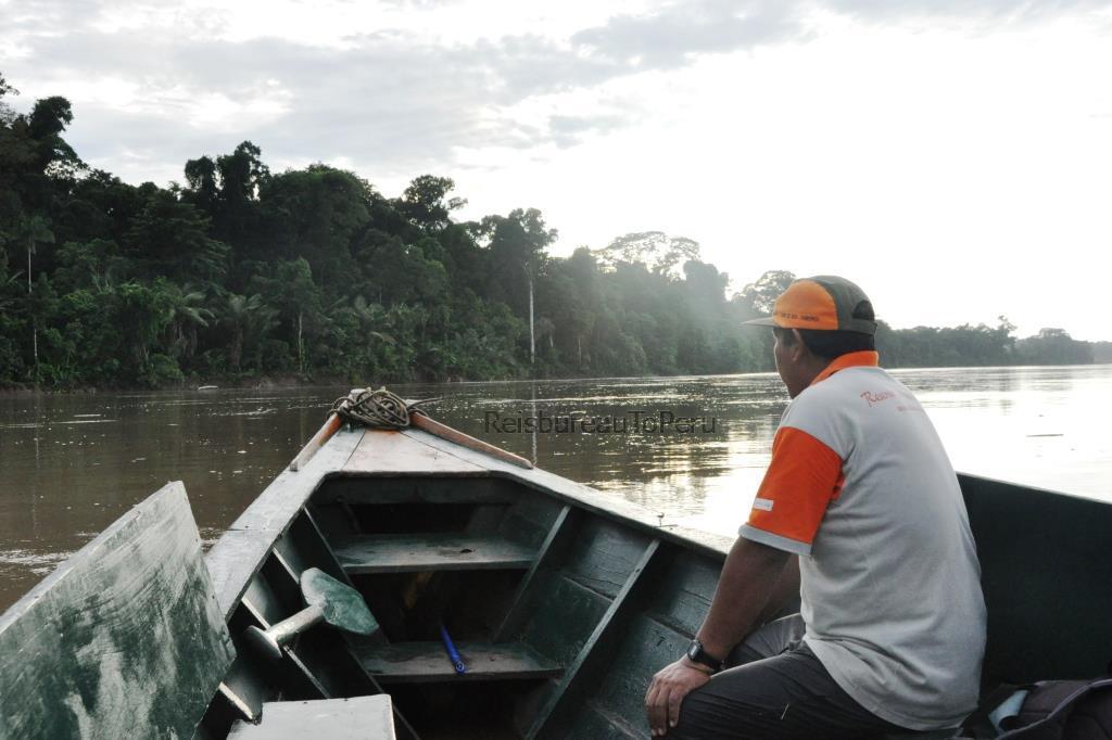 Boottocht op de rivier Madre de Dios, Tambopata reservaat