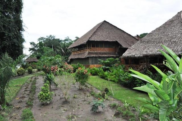 Hoofdgebouwen Eco Amazonia Lodge